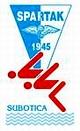 """Знак пливачког клуба """"Спартака"""" из суботице и линк на њихов матични сајт"""